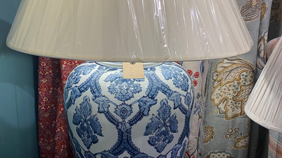 Extra Large Blue And Whit Lamp