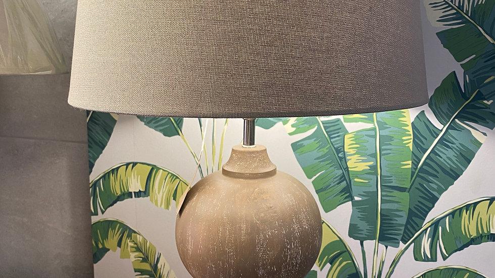 bleached Mango Wood Table Lamp
