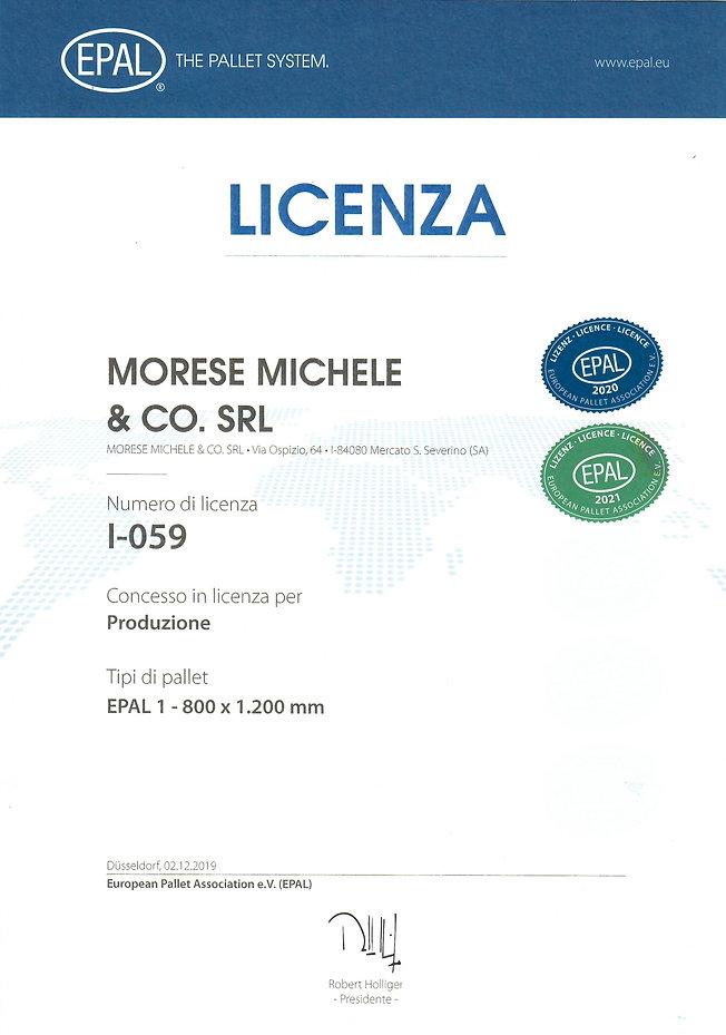 LICENZA EPAL ANNO 2021 - MORESE MICHELE