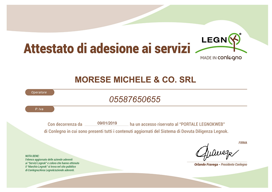 MORESE MICHELE & CO. SRL ATTESTATO_ITA.p