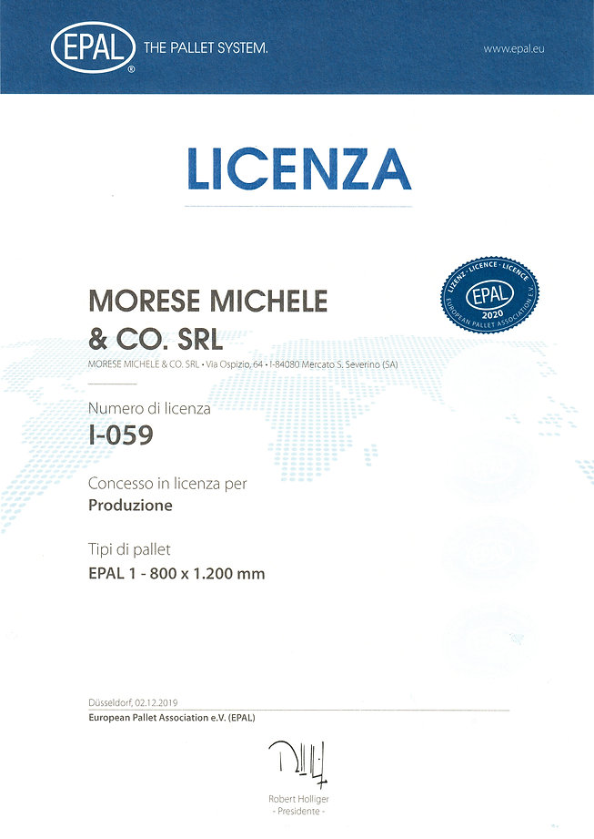 LICENZA EPAL 2020 - MORESE MICHELE & Co.