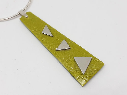 Geometric sterling silver and polymer clay necklace