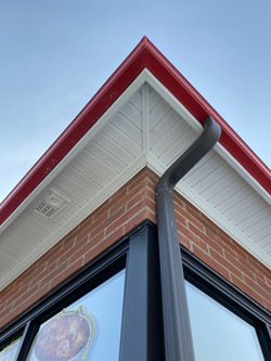 Gutter, Soffit, and Downspout