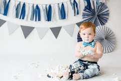 Blue one year old session