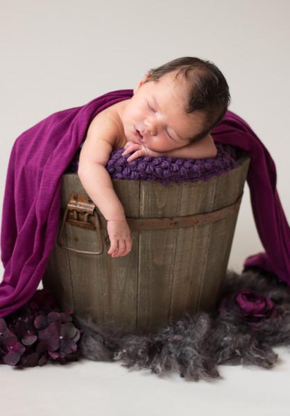 Lauren Elizabeth Photography Baby in a Bucket