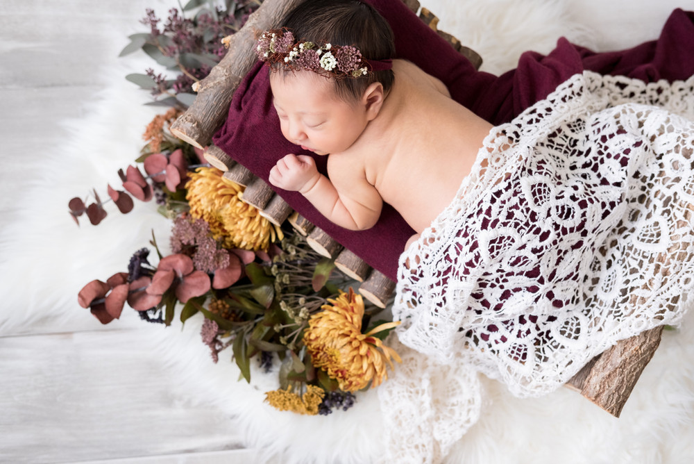 Love these fall colors of this newborn session