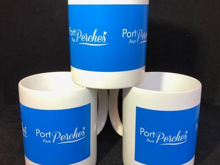 Tasses/Mugs en porcelaine capacité 35cl avec impressions sérigraphie 1 couleur