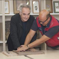 Modelado de huellas con Ferran Adriá.