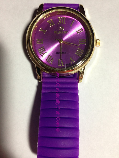 Purple Jelly Bracelet watch
