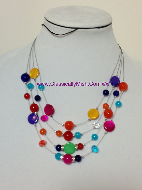 MOP 4 Tier Skittlz necklace