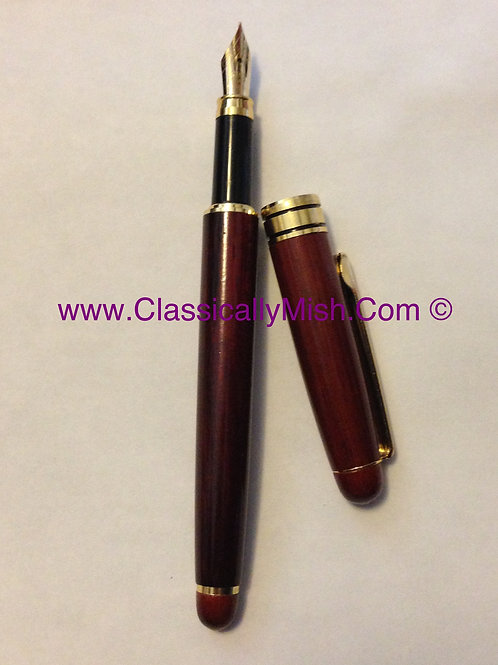 Rosewood Fountain Pen
