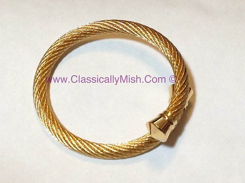 Gold Cable Wire Bracelet