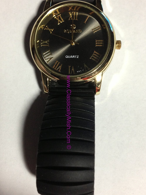 Black Jelly Bracelet Watch