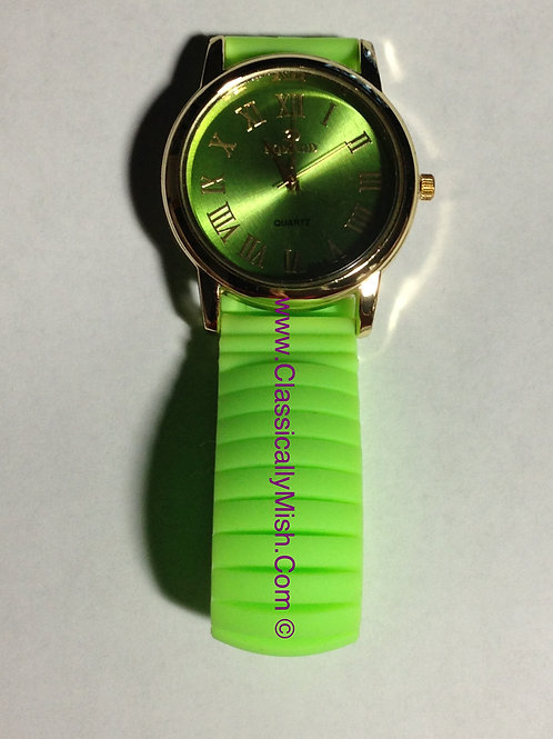 Lime Green Jelly Bracelet Watch