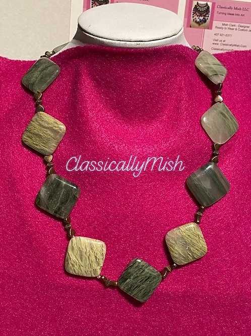 Scenic Moss Agate necklace