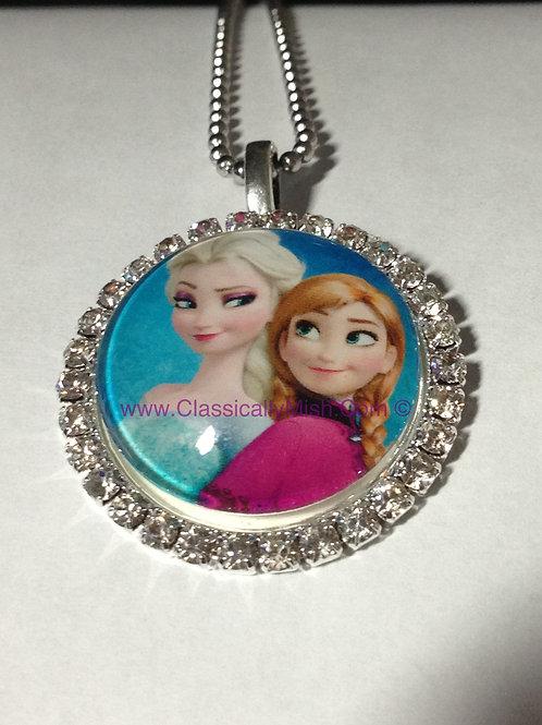 Anna & Elsa Pendant