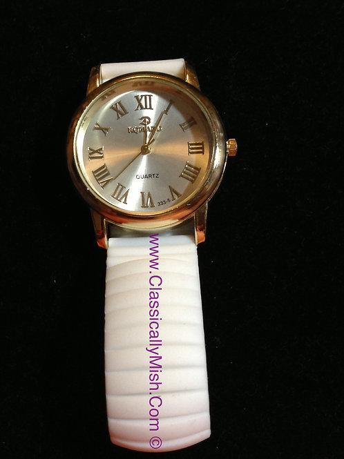 White Jelly Bracelet Watch