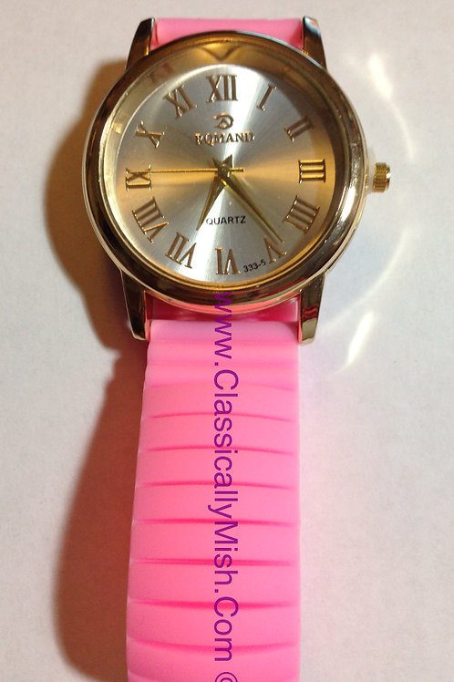 Pink Jelly Bracelet Watch