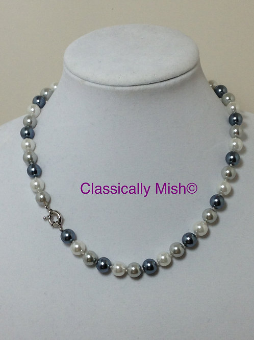Blue-Gray Multi Shell pearls