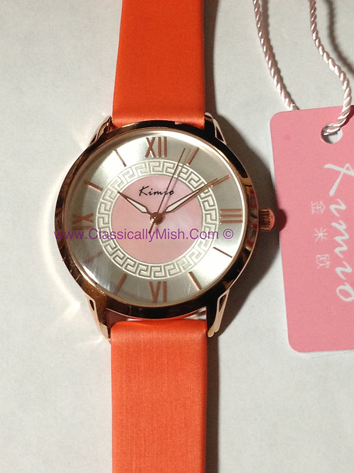 Kimio Orange Quartz Watch