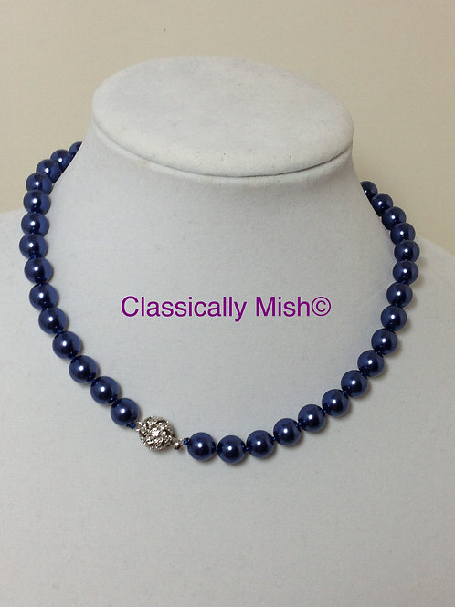 Blue Shell Pearl Necklace