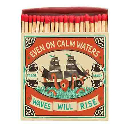 Calm Waters Square Matchbox by Archivist Gallery