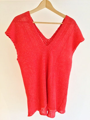 Hand Knitted Vest Jumper by Ruth Cross