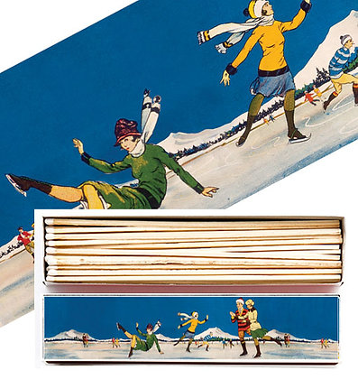 Skating Long Matchbox by Archivist Gallery
