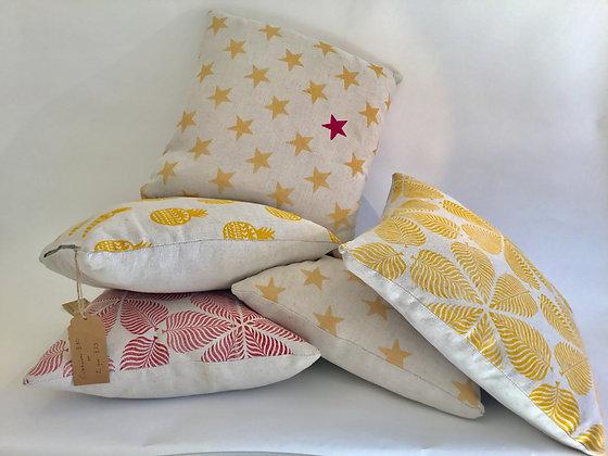 Cotton-Linen Patterned Cushions