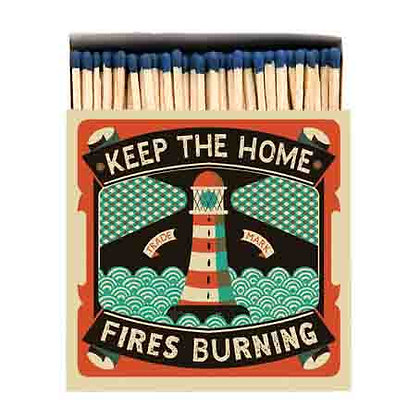 Home Fires Square Matchbox by Archivist Gallery