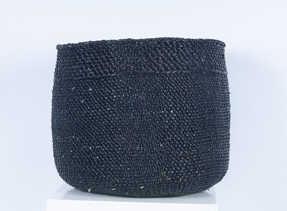 VAZI: Black Storage Basket by The Basket Room