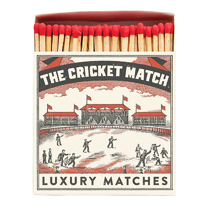 Cricket Match Square Matchbox by Archivist Gallery