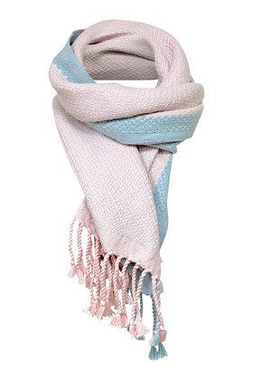 Pink Herringbone Large Scarf