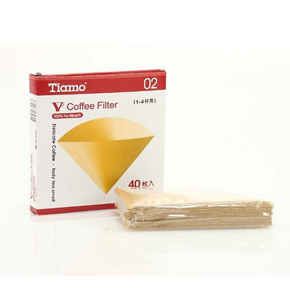 V01 Coffee Filters x40 by Cafe de Tiamo