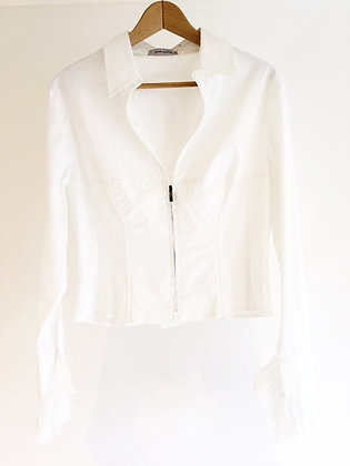 Jacket Style White Shirt Rene Lezard
