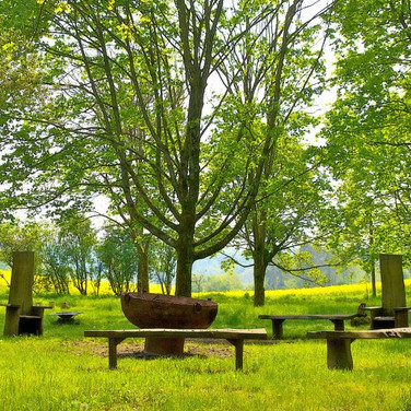Woodland Area Fire Pit & Seating Circle