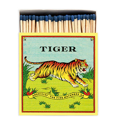 Tiger Square Matchbox by Archivist Gallery