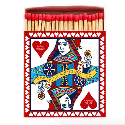 Queen of Hearts Square Matchbox by Archivist Gallery