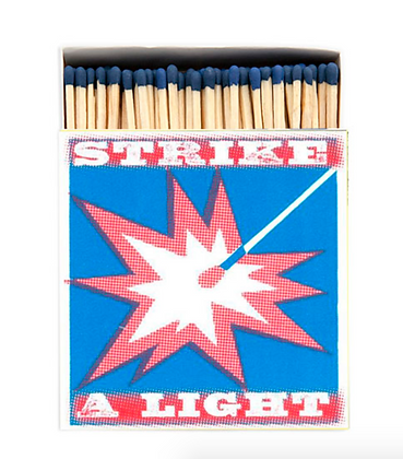 Strike a Light Square Matchbox by Archivist Gallery
