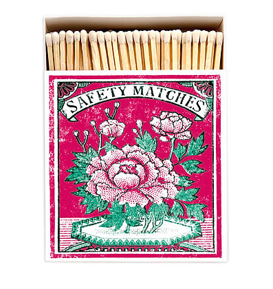 Flower Square Matchbox by Archivist Gallery