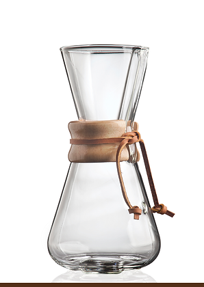 Three Cup Classic Chemex® Drip Filter Coffee Maker