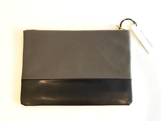 Miss Copenhagen Taupe and Black Clutch