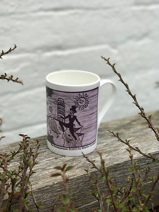 The Honeymoon Mug by Martin Covington in Purple