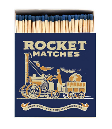 Rocket Square Matchbox by Activist Gallery