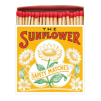 Sunflower Square Matchbox by Archivist Gallery