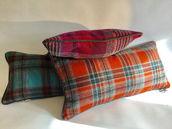 Contemporary Tartan Wool Cushions by Thom