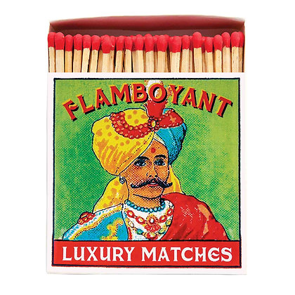 Flamboyant Square Matchbox by Archivist Gallery