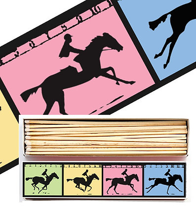 Horses Long Matchbox by Archivist Gallery