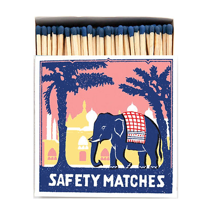 Pink Elephant Square Matchbox by Archivist Gallery