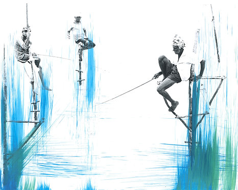 'Fishing 5' Limited Edition Print